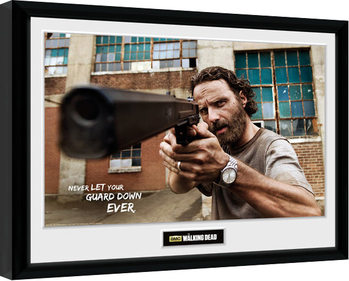 The Walking Dead - Rick Gun Poster enmarcado