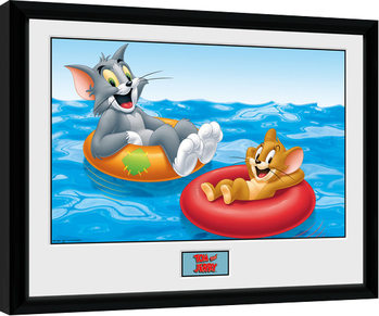 Tom and Jerry - Floats Poster enmarcado