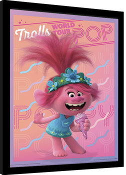 Poster enmarcado Trolls 2: Gira mundial - Poppy