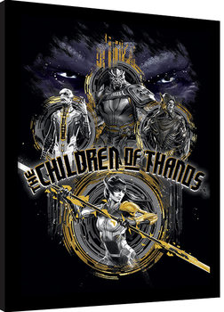 Vengadores Infinity War - Children of Thanos Stencil Poster enmarcado