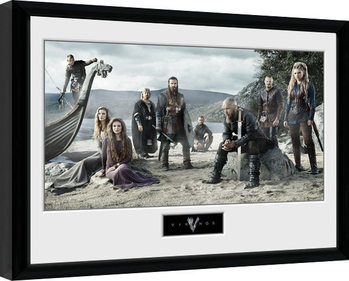 Poster enmarcado Vikings - Beach