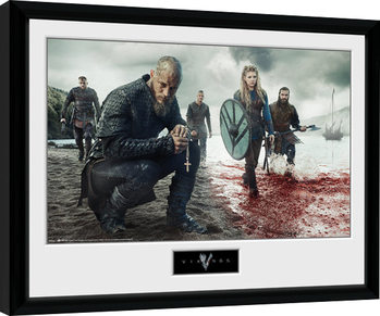 Poster enmarcado Vikings - Blood Landscape