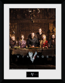 Vikings - Table Poster enmarcado