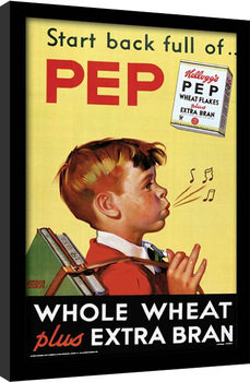 Vintage Kelloggs - Start Back Full Of Pep Poster enmarcado