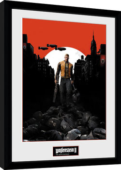 Wolfenstein 2 - Key Art Poster enmarcado