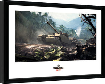 World of Tanks - Forest Tanks Poster enmarcado