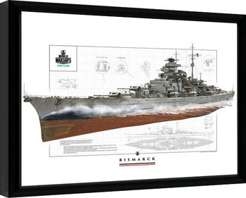 World Of Warships - Bismark Poster enmarcado