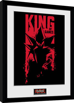 Yu Gi Oh - Dark Side of Dimension King of Games Poster enmarcado