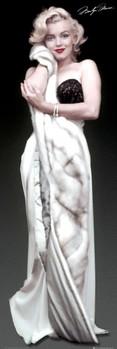 MARILYN MONROE - fur - плакат (poster)