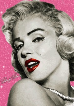 Marilyn Monroe - wink 3D - плакат (poster)