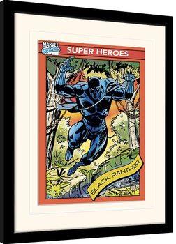 Πλαισιωμένη αφίσα Marvel Comics - Black Panther Trading Card