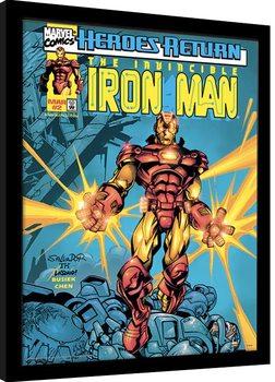 Πλαισιωμένη αφίσα Marvel Comics - Iron Man Heroes Return