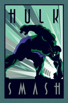 Marvel Deco - Hulk - плакат (poster)