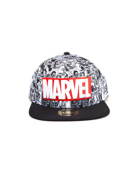 Basecap Marvel - Red and White Logo