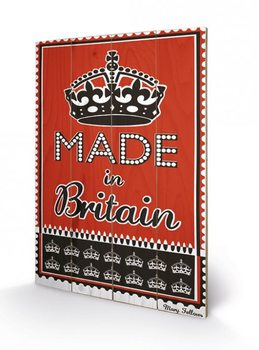 MARY FELLOWS - made in britain plakát fatáblán