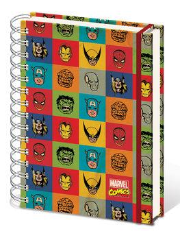 Marvel Retro - Faces A5 Notebook Materiały Biurowe