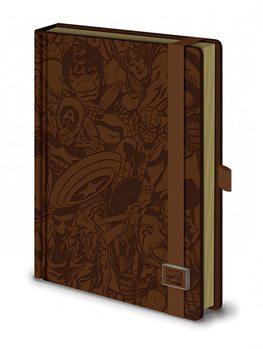 Marvel Retro - Premium A5 notebook Materiały Biurowe
