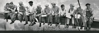 Αφίσα πόρτας  Men on girder