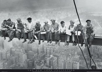Men on girder - New York плакат