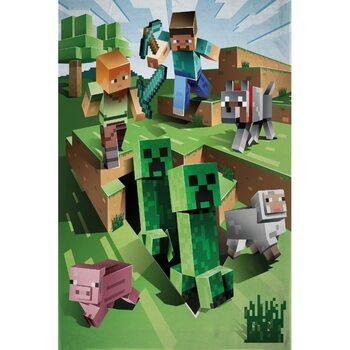 одеяло Minecraft - Overworld