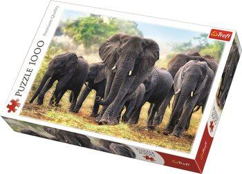 Puzzel African Elephants