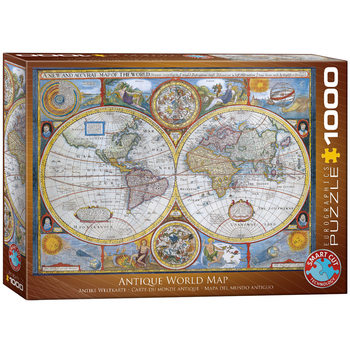 Puzzel Antique World Map