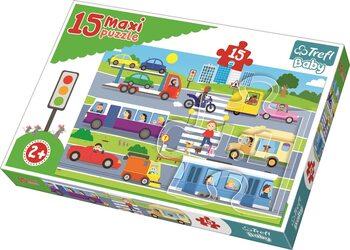 Puzzle Auta ve městě