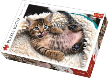 Puzzle Cheerful Kitten