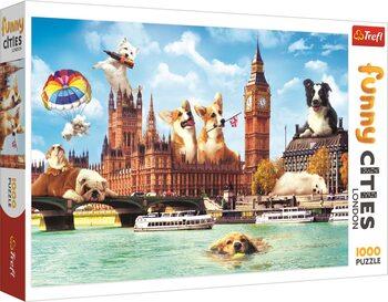 Sestavljanka Crazy City - Dogs in London