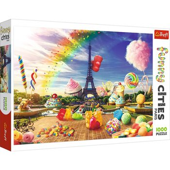 Pussel Crazy City - Sweet Paris