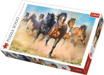 Puzzel Galloping Herd of Horses