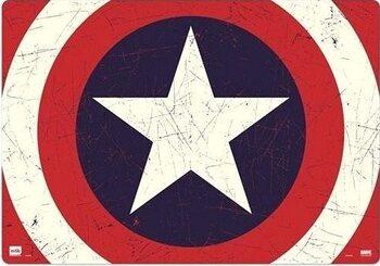Gaming Matta för skrivbord Captain America - Shield
