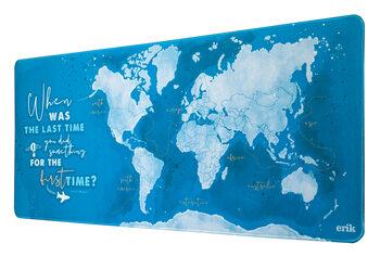 Gaming Matta för skrivbord - World Map