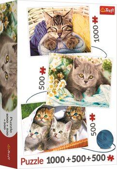 Puzzle Kočičí potěšení 3v1
