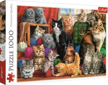 Puzzle Kočičí setkání