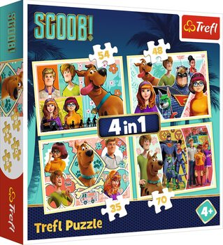 Sestavljanka Scoob Movie: Scooby Doo and Friends 4in1