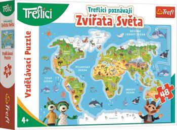 Puzzle Treflíci poznávají zvířátka světa
