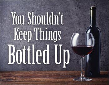 Μεταλλική πινακίδα Bottled Up