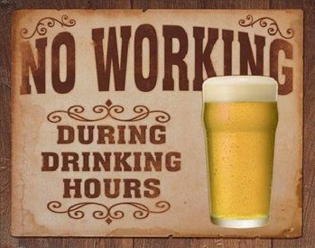 Μεταλλική πινακίδα NO WORKING