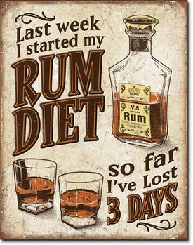 Mетална табела Rum Diet