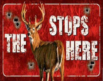 Plåtskylt Buck Stops Here
