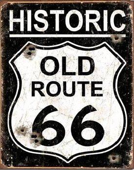 Plåtskylt OLD ROUTE 66 - Weathered