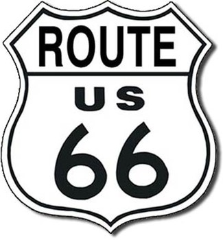 Plåtskylt ROUTE 66 - shield