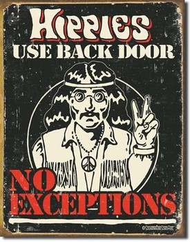 Plåtskylt SCHONBERG - hippies