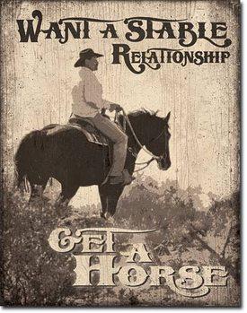 Plåtskylt Stable Relationship
