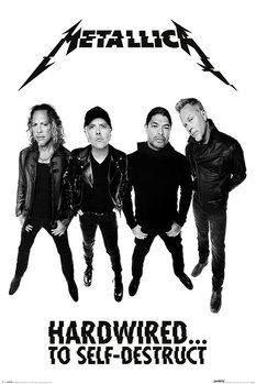 Metallica - Hardwired Band - плакат (poster)