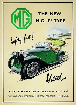 Metallschild 1934 MGP