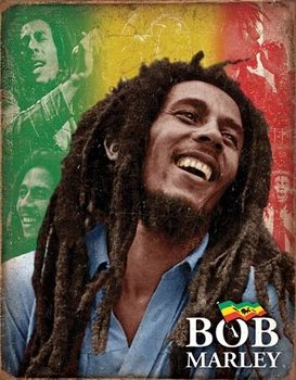 Metallschild Bob Marley - Mosaic