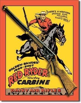 Metallschild DAISY RED RYDER CARBINE