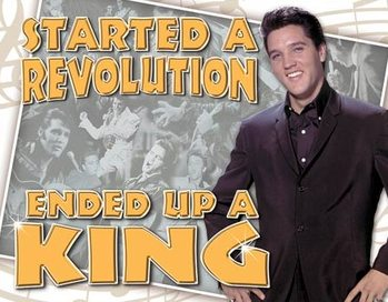 Metallschild Elvis Presley - Ended Up a King